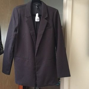 NWT Forever 21 charcoal blazer L